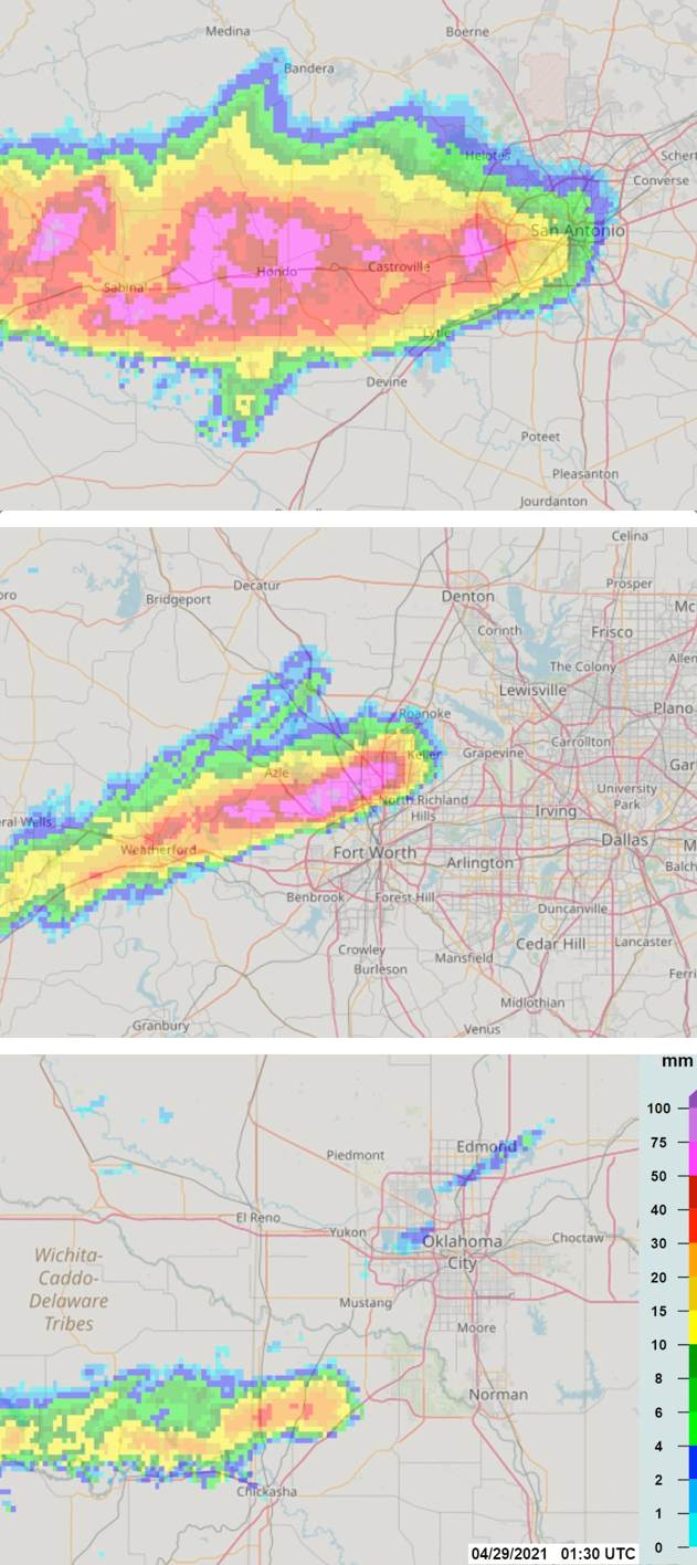 Billion dollar losses possible from night of large hail in Oklahoma & Texas