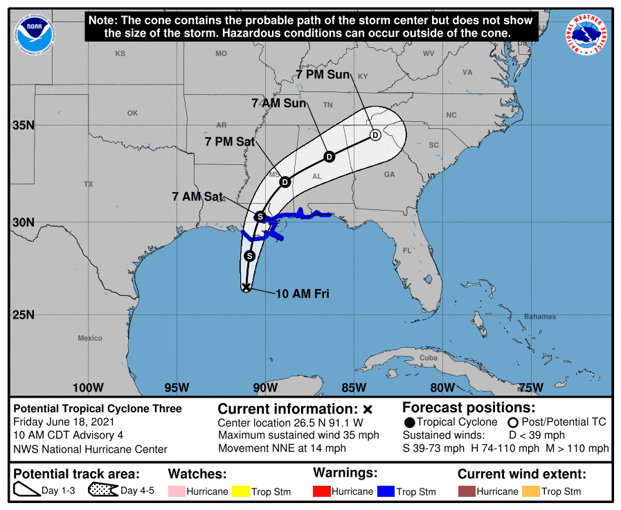 Tropical storm Claudette forecast as first US named landfall of 2021 season